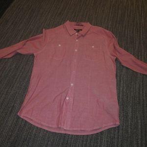 21 Men red Button Down Shirt